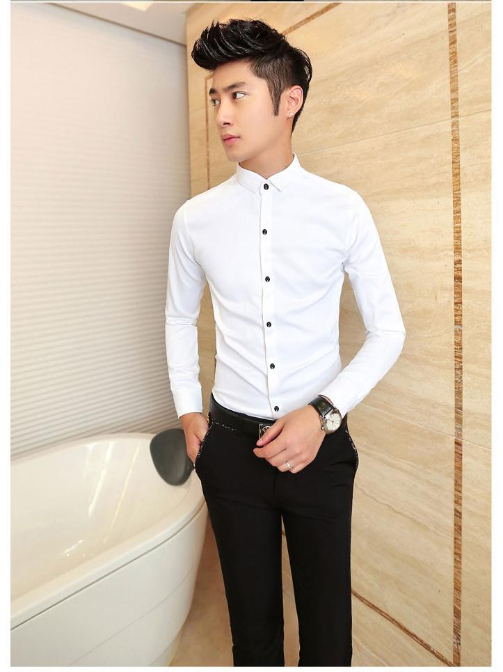 Ao So Mi Tron Trang ASM555