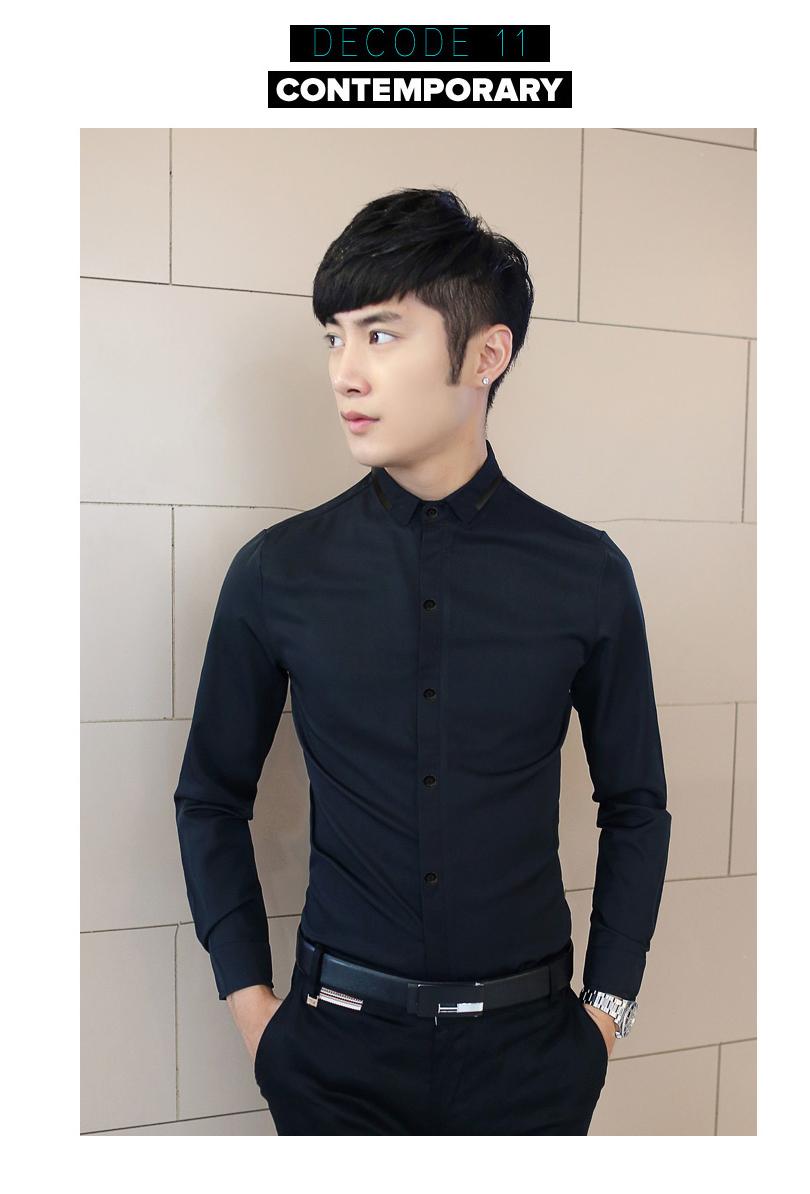 Ao So Mi Xanh Den Co Phoi Da ASM548