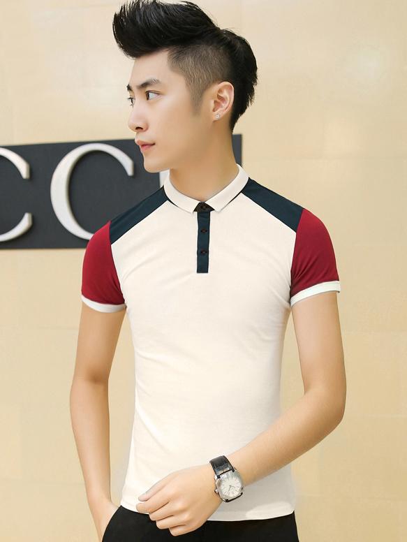 Ao Thun Ca Sau Trang Kem AT539