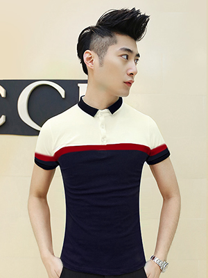 Ao Thun Co Co Xanh Den AT534