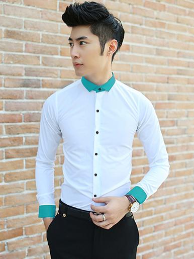Ao So Mi Trang Phoi Co ASM647