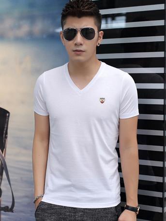 Ao Thun Co Tim Trang AT543