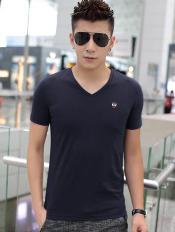 Ao Thun Co Tim Xanh Den AT543