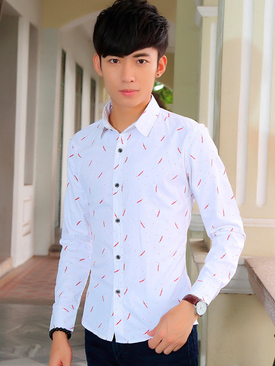 Ao So Mi Hoa Tiet Trang ASM6662