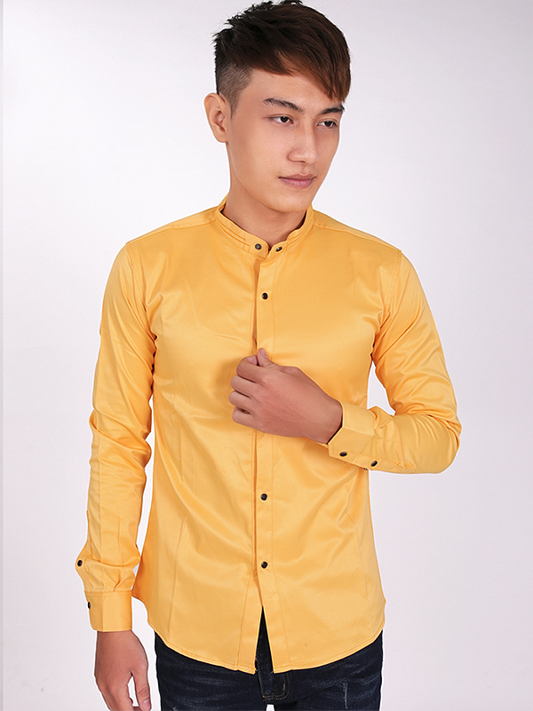 Ao So Mi Co Lanh Tu Vang ASM705