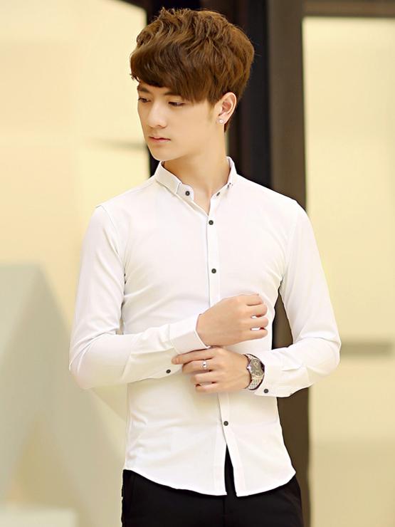 Ao So Mi Han Quoc Trang Kem ASM714