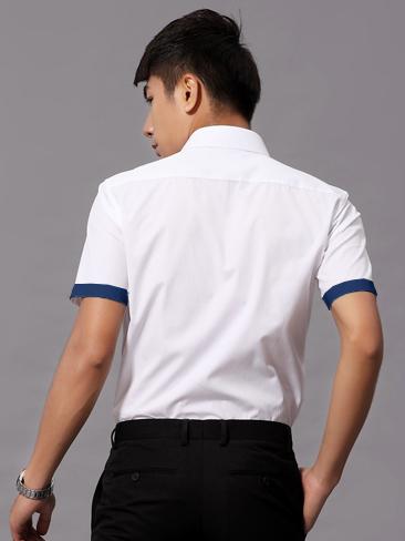 Ao So Mi Ngan Tay Trang ASM710