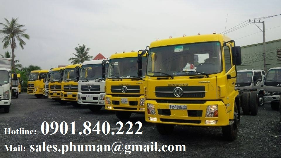 Xe Dongfeng B170 875 tan Dongfeng B190 845 tan Dongfeng C260 136 tan gia tot tai TPHCM