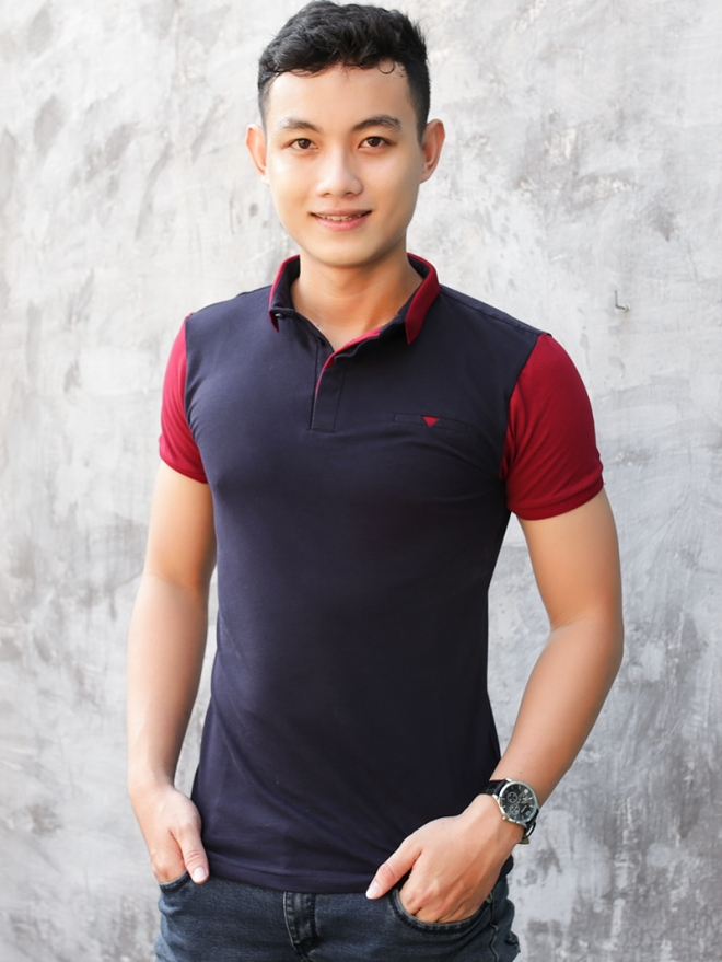 Ao Thun Ca Sau Xanh Den AT579