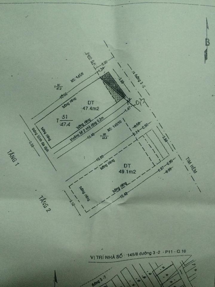nha 4x12 hem 32 P11 Q10 gan nga 4 Cao Thang cach mat tien dung 25m