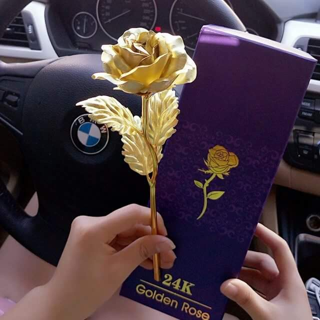 Qua tang Valentine Hoa Hong 24K