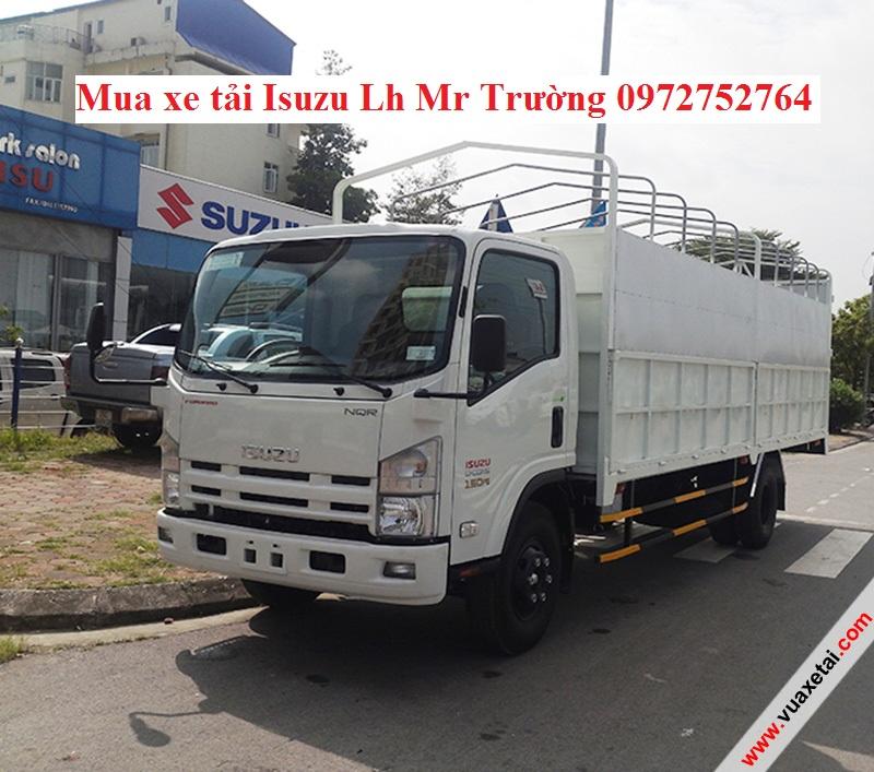 Ban xe tai Isuzu 55 tan NQR guong moi km 100 thue truoc ba
