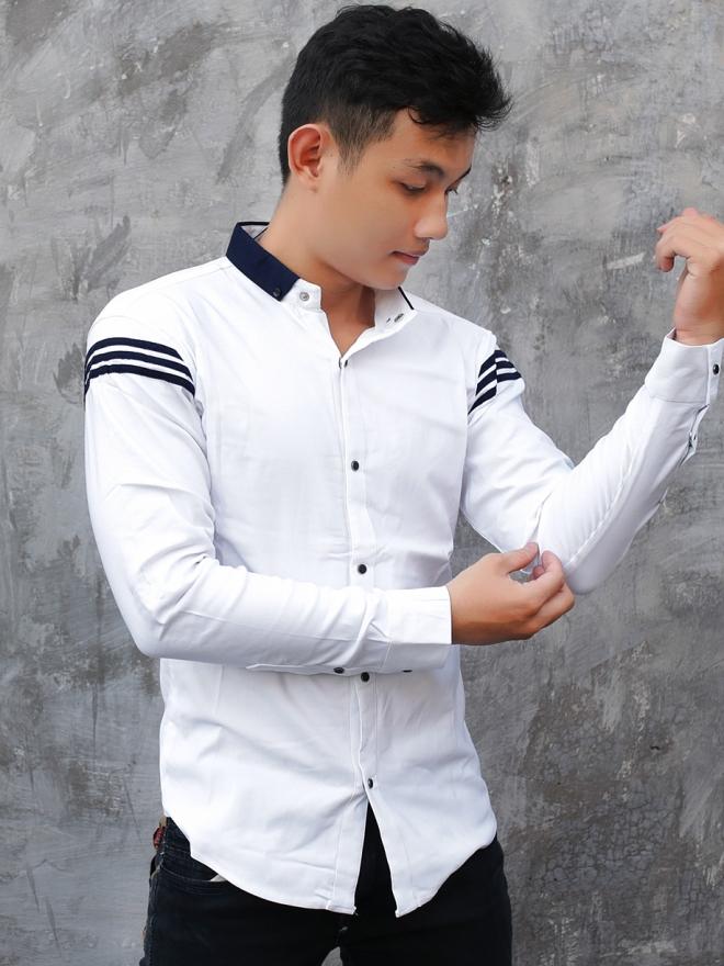 Ao So Mi Han Quoc Phoi Co Trang ASM717