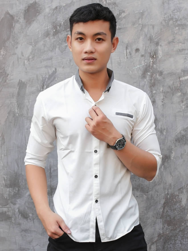 Ao So Mi Han Quoc Trang ASM7541