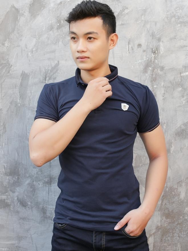 Ao Thun Ca Sau Xanh Den AT578