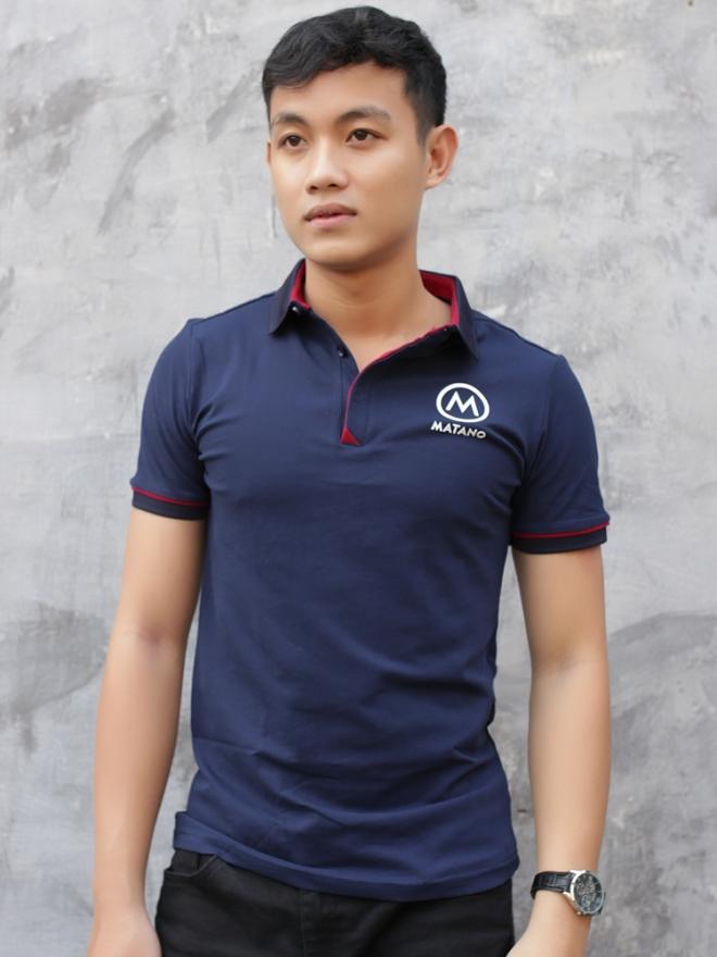 Ao Thun Ca Sau Xanh Den AT585