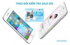 Phan mem kiem tra theo doi Zalo iPhone 6s