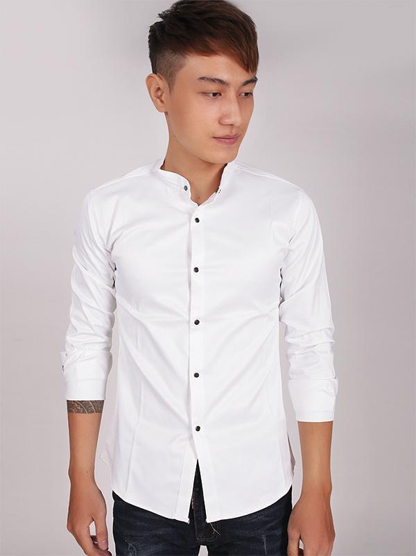 Ao So Mi Co Lanh Tu Trang ASM705