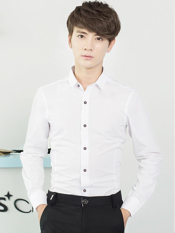 Ao So Mi Han Quoc Trang ASM709