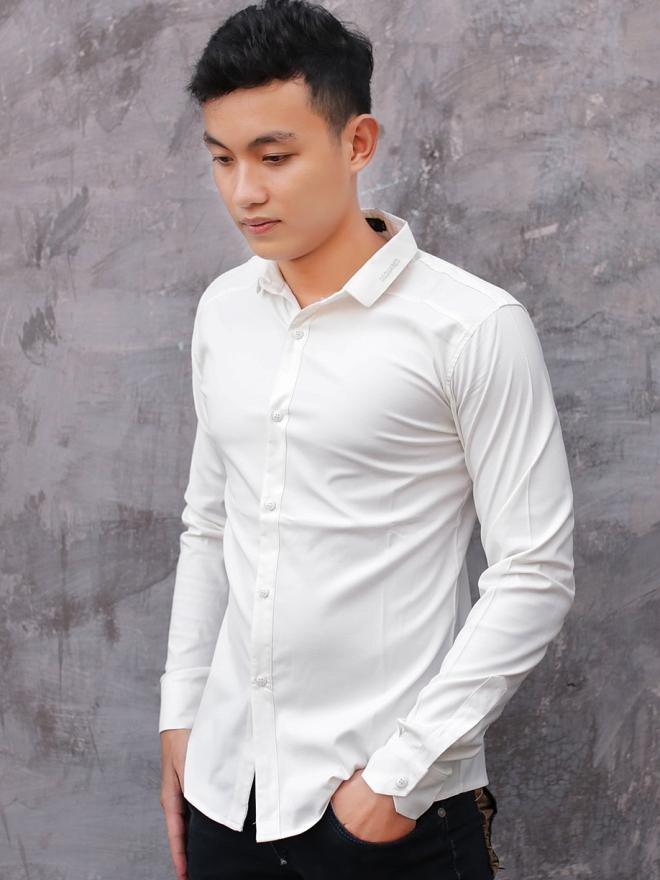 Ao So Mi Han Quoc Trang Kem ASM730