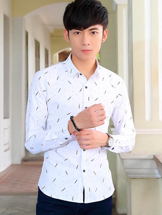 Ao So Mi Hoa Tiet Trang ASM666