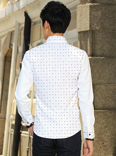 Ao So Mi Hoa Tiet Trang ASM673