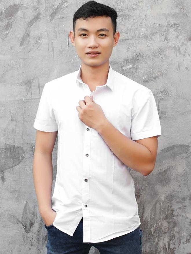 Ao So Mi Ngan Tay Trang Kem ASM743