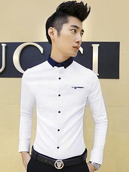 Ao So Mi Trang Co Xanh Den ASM644