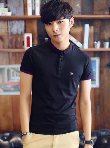 Ao Thun Co Co Xanh Den AT552