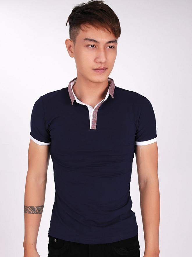 Ao Thun Co Co Xanh Den AT560