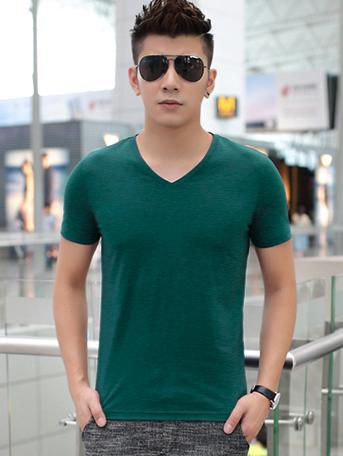 Ao Thun Co Tim Xanh Reu AT541