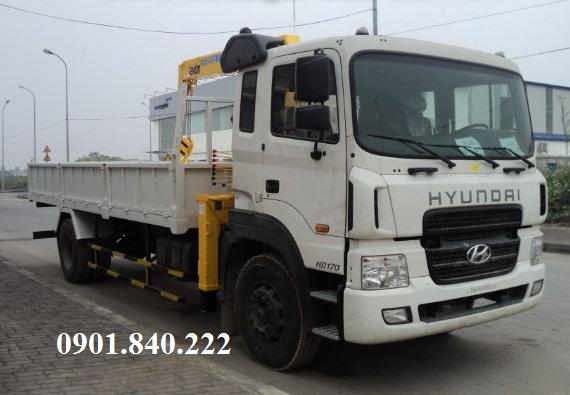 Xe tải Hyundai 8t5, 10t, 11t6, 14t gắn cẩu Unic 3t, 4t, 5t đời 2016 nhập khẩu, có sẵn xe giao liền