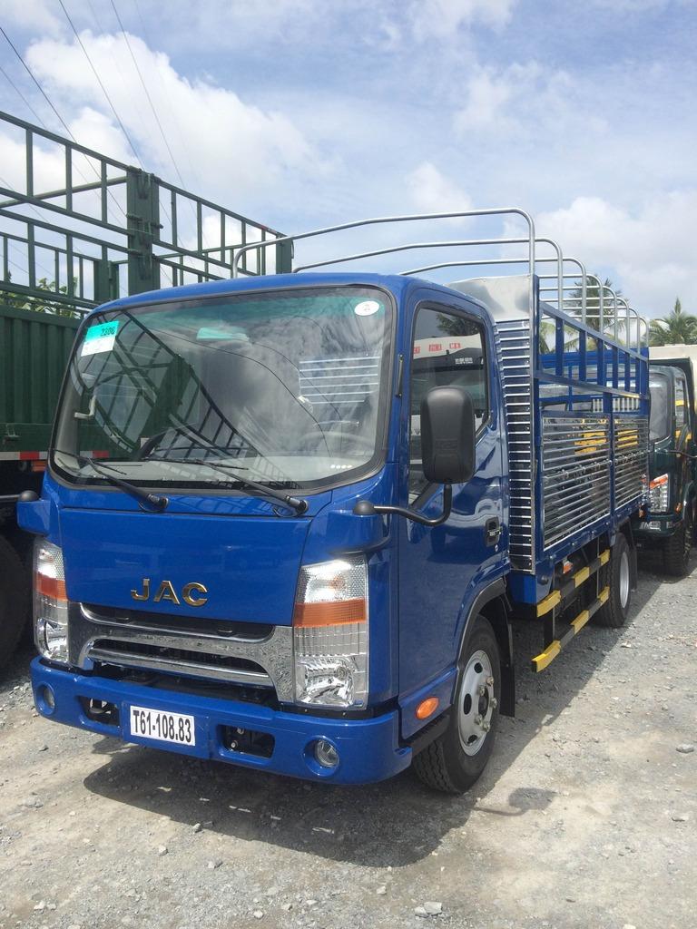 Ước tính giá xe khi mua xe tải jac 3t45 3,45 tấn 3T5 3.5 tấn đầu vuông máy isuzu đời 2016 thùng 4m3
