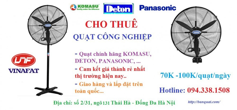 Cho thue quat cong nghiep tai Ha Noi cam ket gia thanh re nhat thi truong