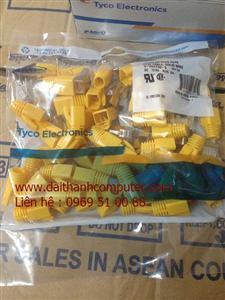 Hat mang Dau bam hat mang RJ 45 Cat6Mat wall plate AMCap mang AMPPatch Panel 24 48 Port AMP