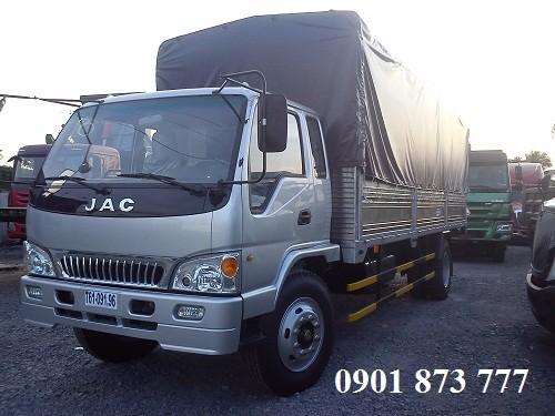 JAC HFC1383K1 845 tan 885 tan cong nghe Isuzu bao hanh 3 nam co thung lung thung mui bat kin