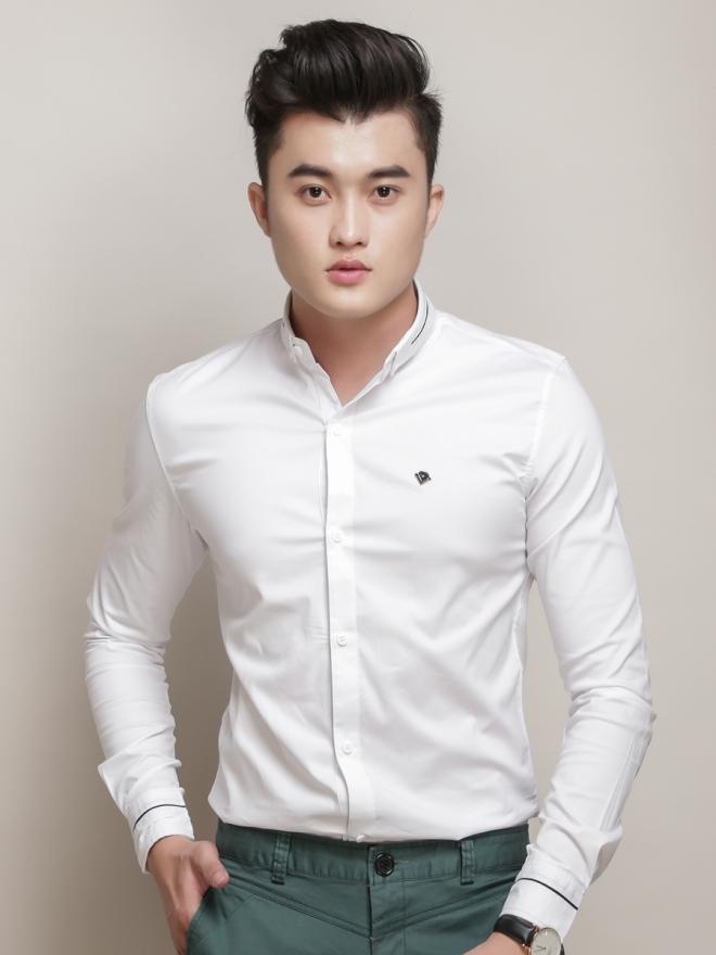 Ao So Mi Han Quoc Trang Kem ASM775
