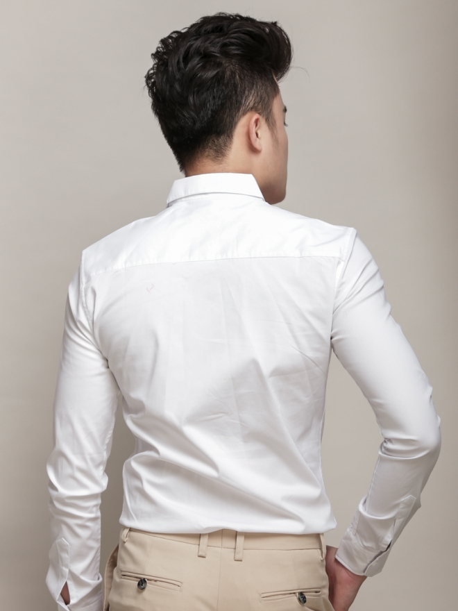 Ao So Mi Han Quoc Trang Kem ASM779