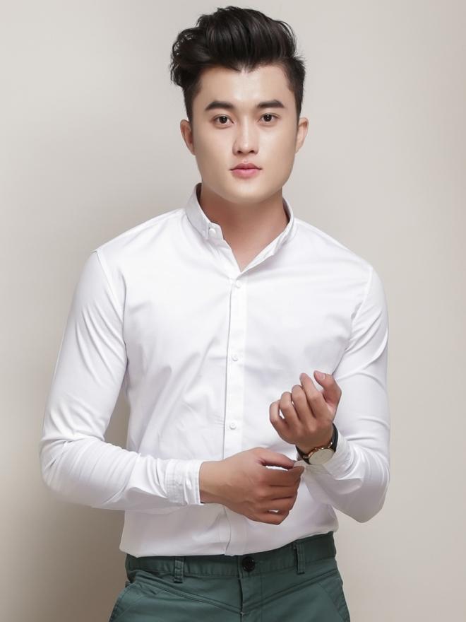 Ao So Mi Han Quoc Trang Tron ASM777