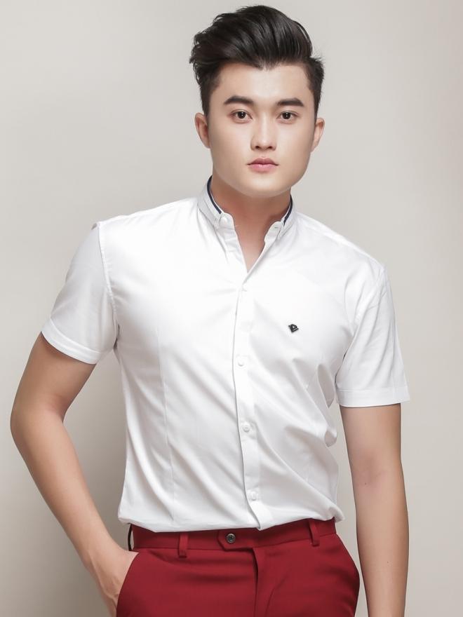Ao So Mi Ngan Tay Trang Kem ASM776