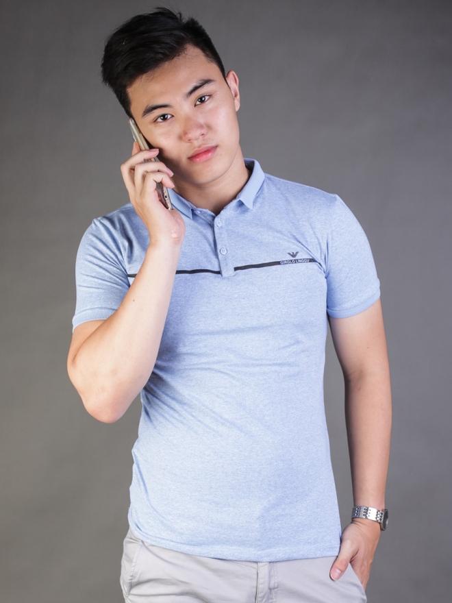 Ao Thun Co Co Xanh Da Troi AT589