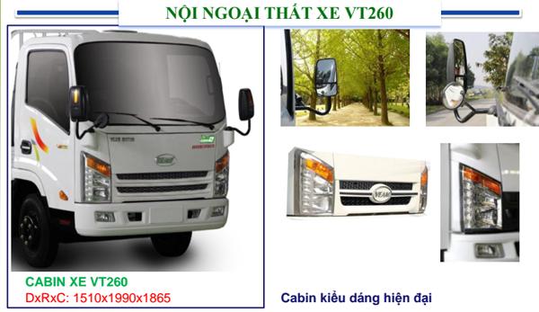 Ban tra gop Veam Vt260 1900 kg thung 6m may huyndai vao thanh pho ban ngay