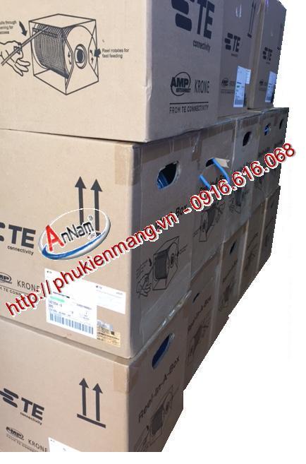 Cap Cat6 4 UTP 23 AWG CM305mthungAMP AMP Cate 6 Modular Plug RJ452423AWG si le gia re