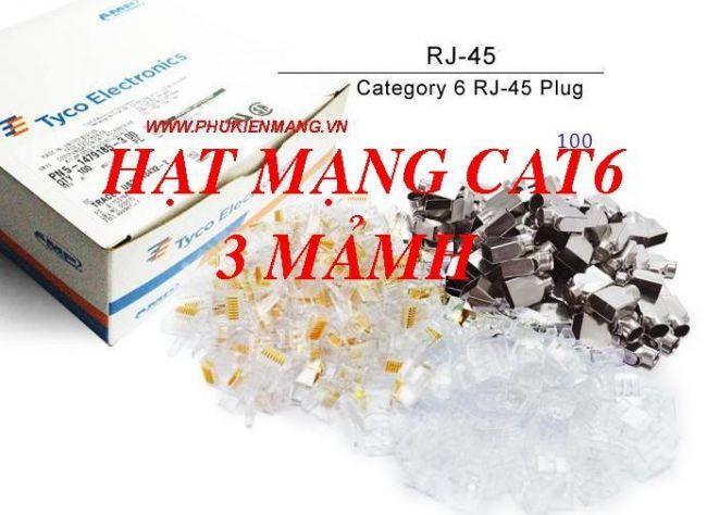 Dau bam mang AMP RJ45 Hat mang Cat63 manh Hop hat mang cat6 AMP 3 manh 4 phan gia re tai annam