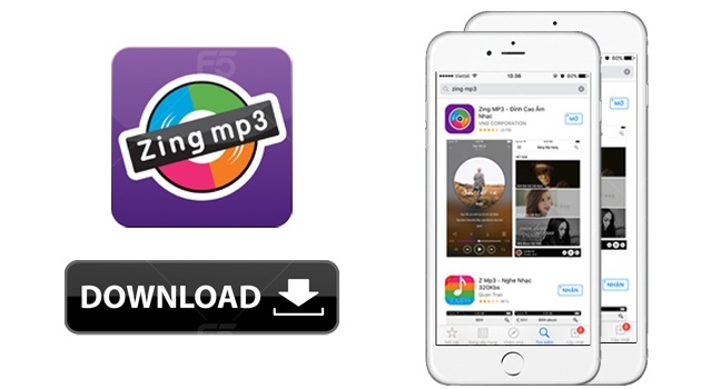 Cach download nhac mien phi ve iPhone bang ung dung Zing mp3