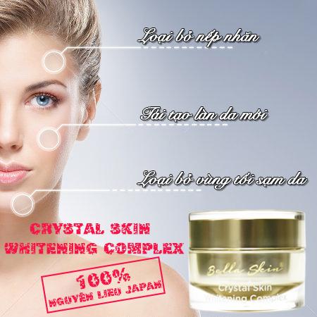 Kem Duong Trang Tai Tao Da Crystal Skin Whitening Complex