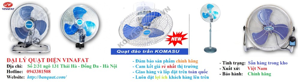 Quat dien quat phun suong quat cong nghiep quat thong gio Dien may tai Thai Ha