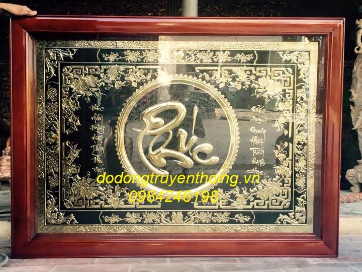 Tranh dong chu phuc ma vang 24k