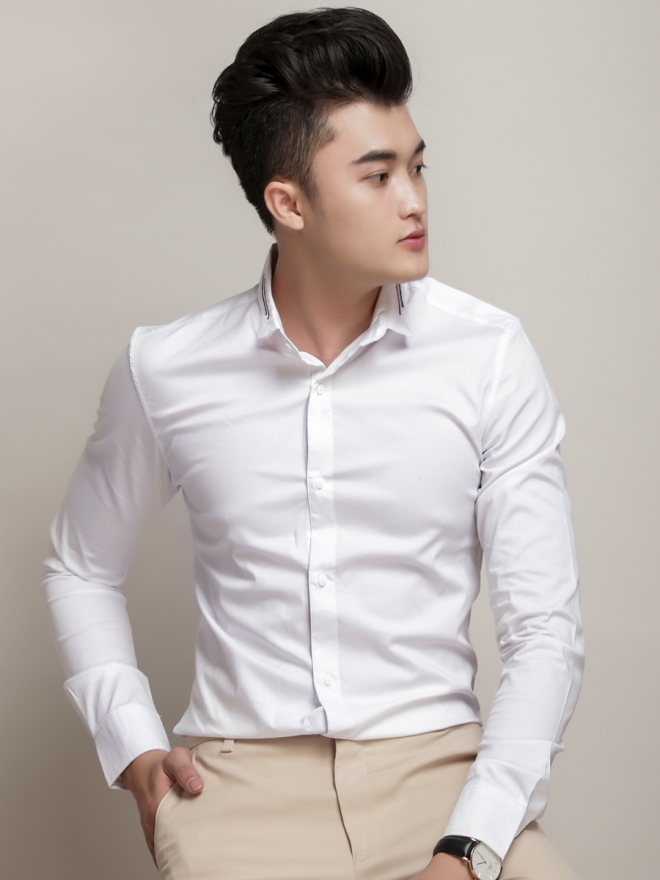 Ao So Mi Han Quoc Trang ASM779