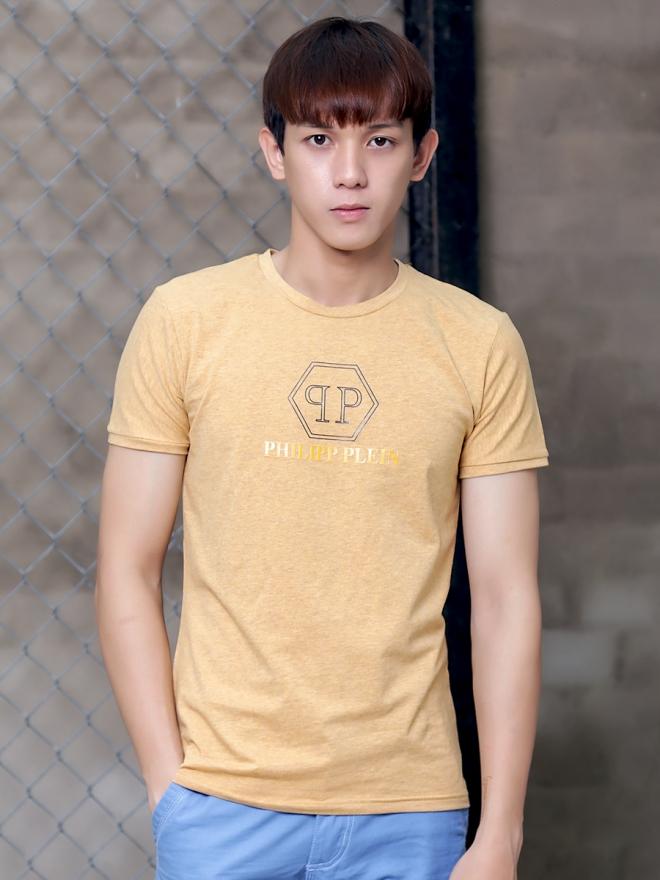Ao Thun Co Tron Vang AT598